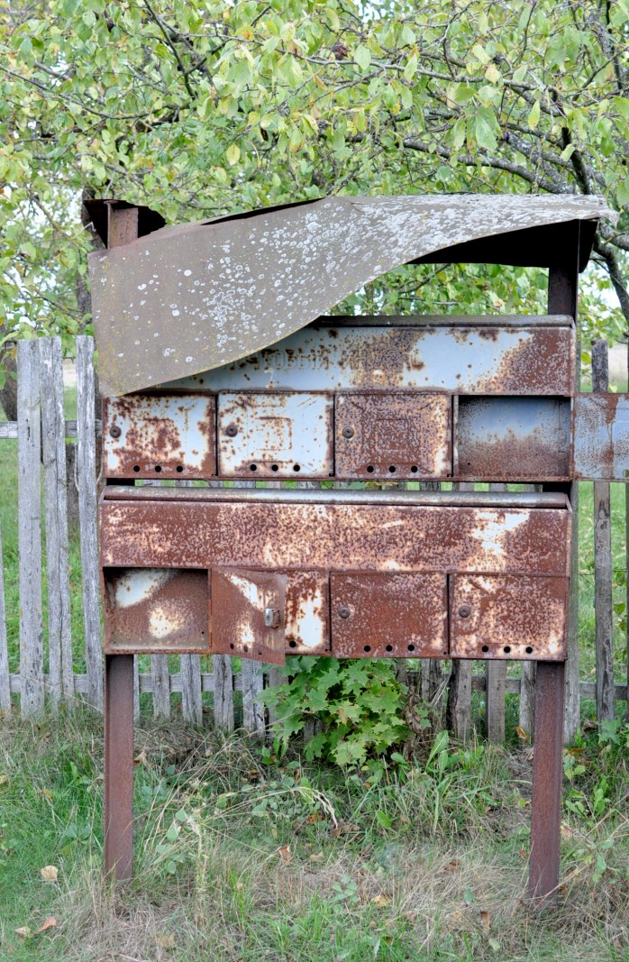 rusty mail boxes